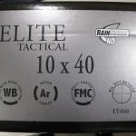 Elite Tactical 10x40 rifle scope box