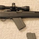 Inserting Norinco M14 magazine