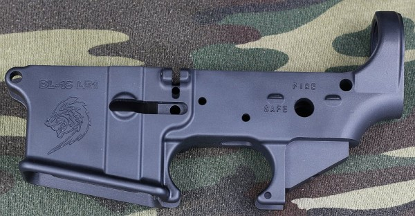Blue line AR15 lower