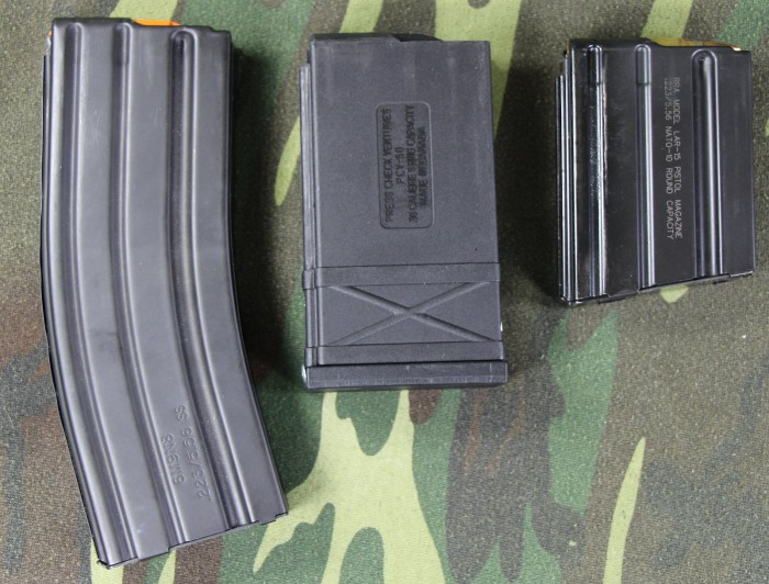 5/30, 50 beowulf, and LAR-15 mags compared