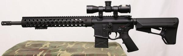 13 inch Troy Alpha Rail on rifle