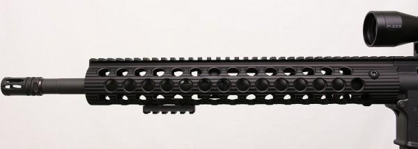 rail on rifle