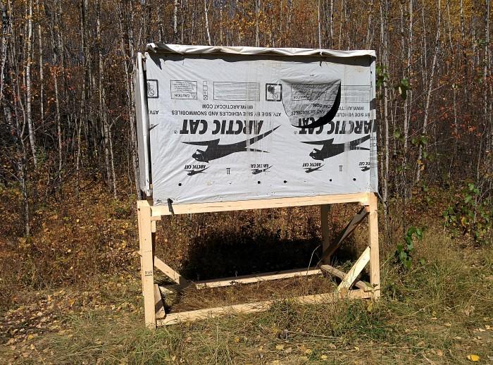 4x8 Wood Hunting Blind