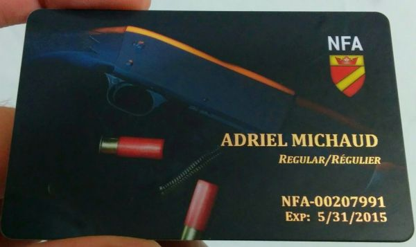 NFA Card