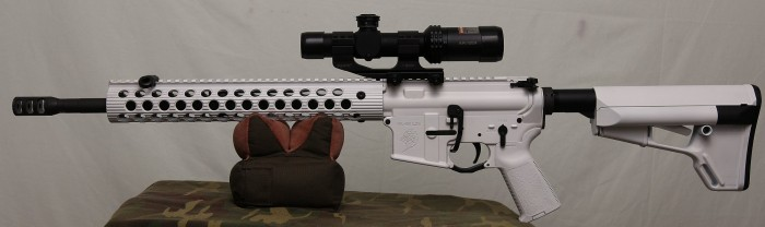 White AR-15