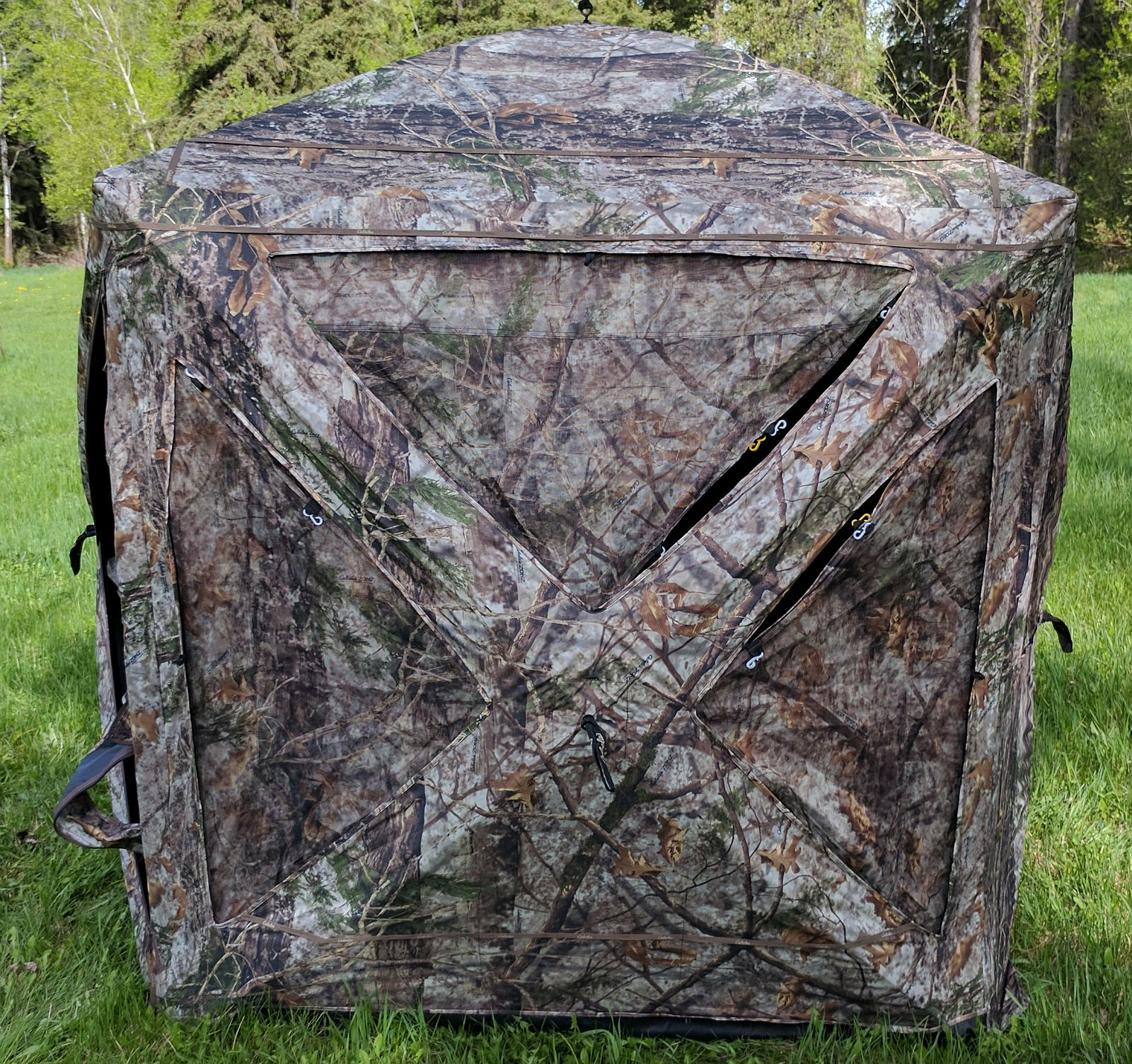 to watch blinds ground a minutes for build how bow hunting blind youtube in