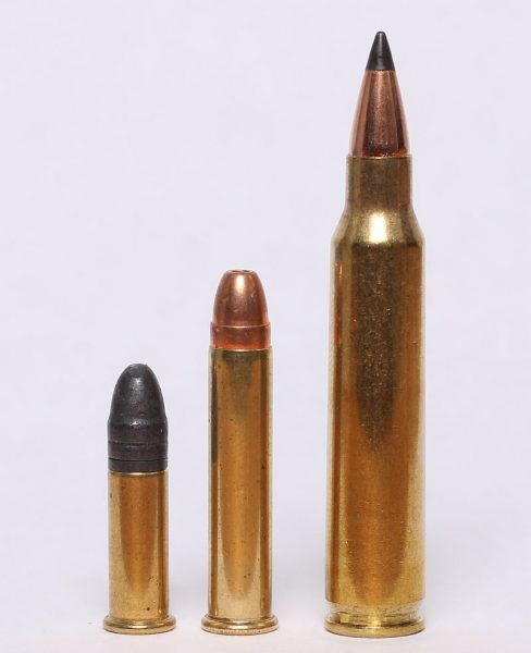22 LR compared with 22 WMR and 223 Remington